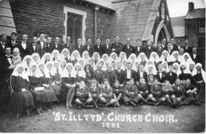Glamorganshire, Rhondda, Penygraig, St Illtyd's Church Choir 1931